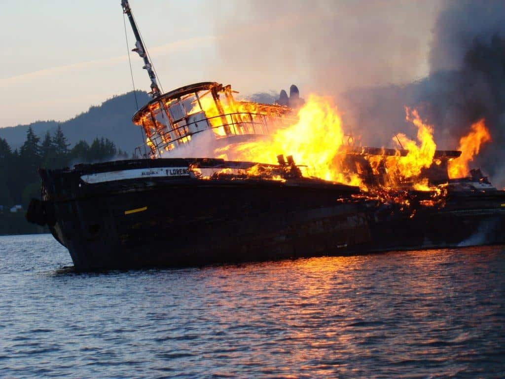 Boat On Fire - boat safety