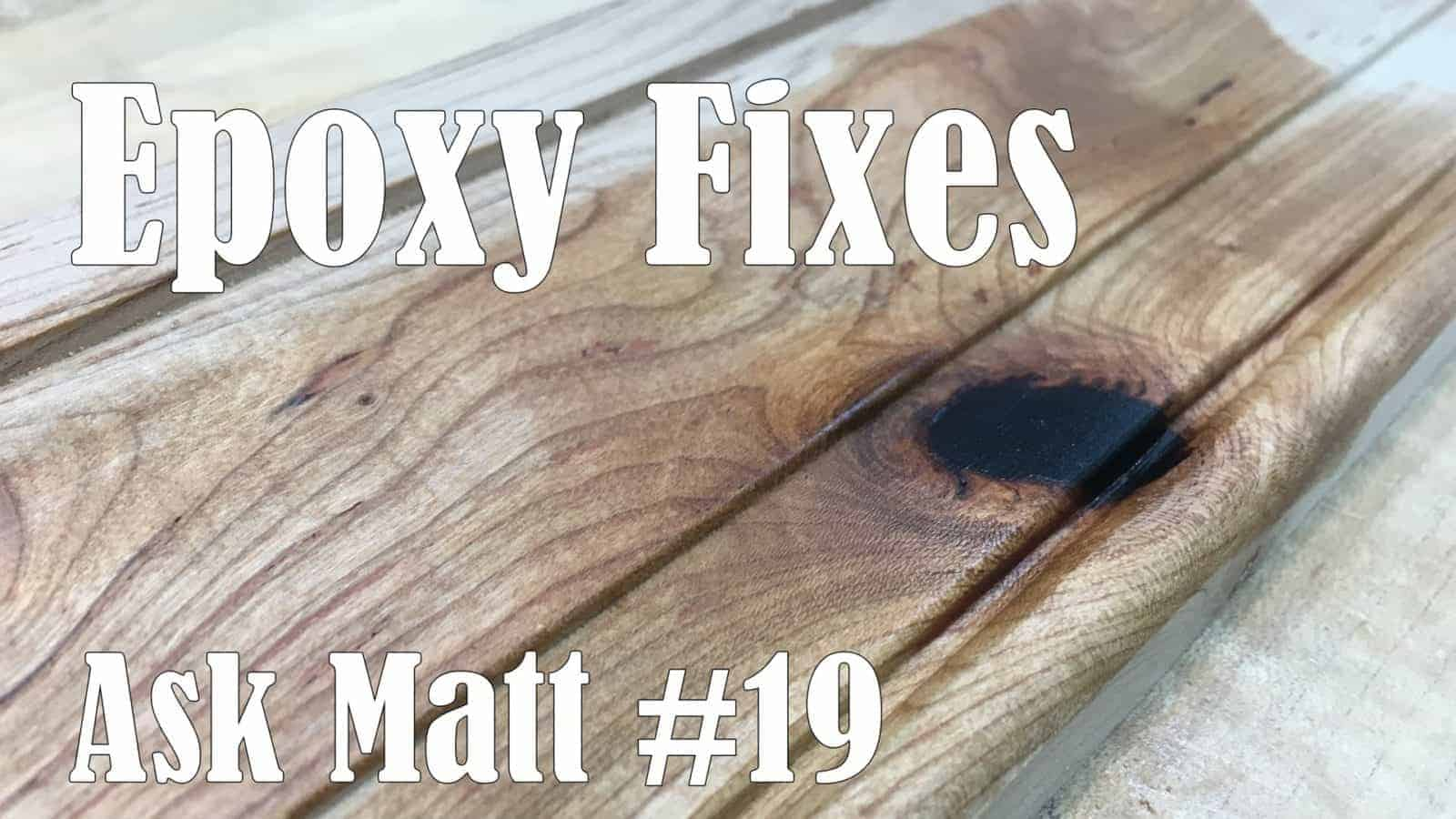 fill Imperfections in wood with resin