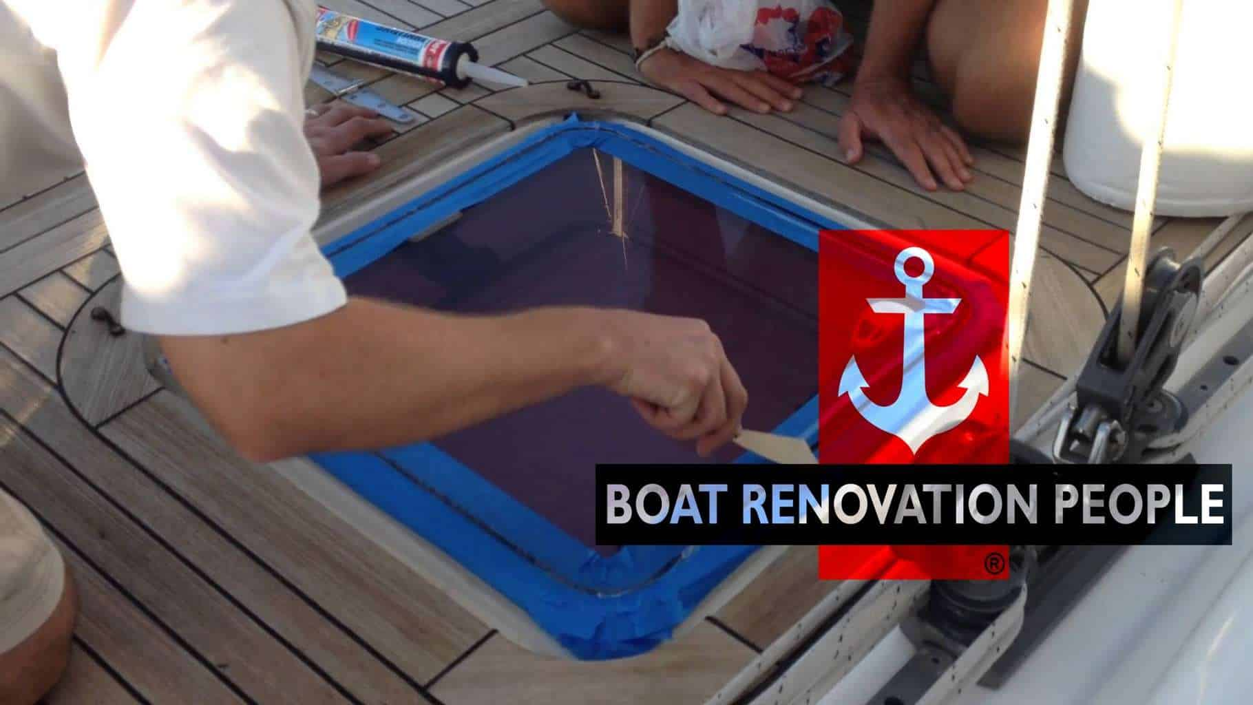 Resealing A Topside Hatch Boat Renovation People