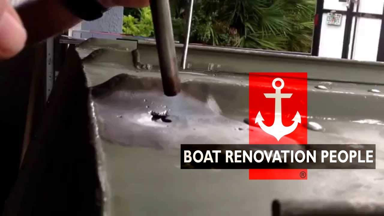 welding an aluminium boat