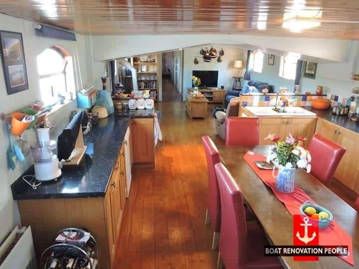 Inside a beautiful dutch barge