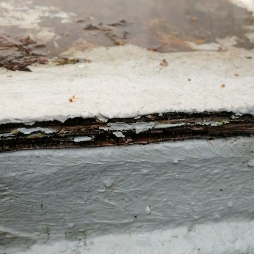 delaminating boat floor