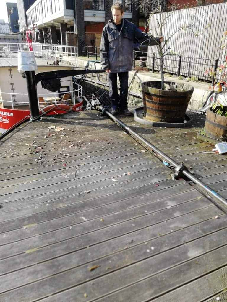 Removing Teak Decking From A Boat