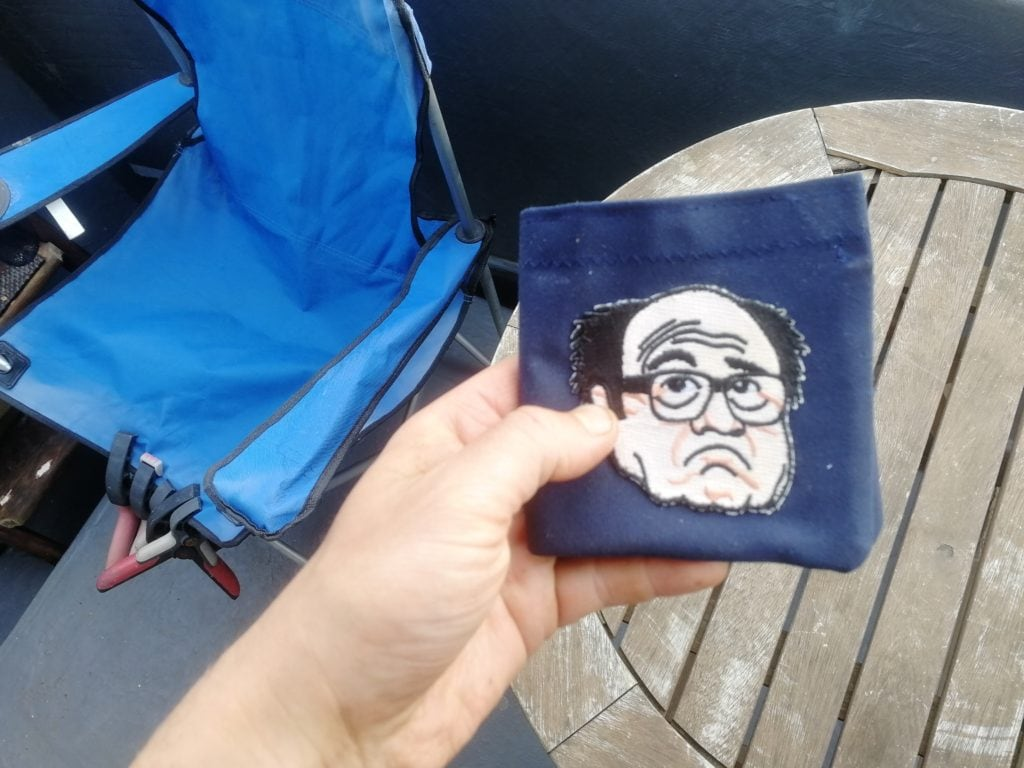 Complete with Danny DeVito patch for the Always Sunny fans