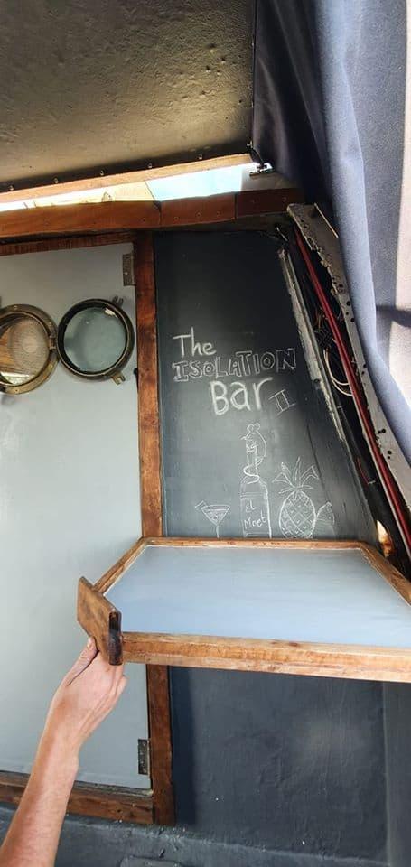 A DIY jmage of a bar on a boat.