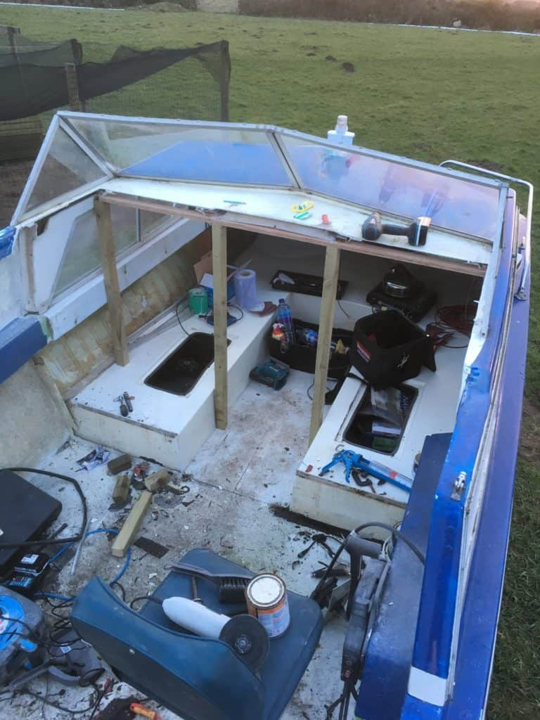 Stripped Out Project Boat